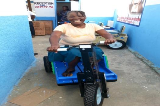 PET cart changed this woman life; she can smile now as she doesn't need that much helps to move around her house.
