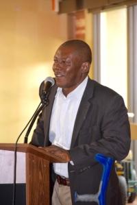 Bangura Ibrahim presents on Sierra.xxx Leone at conf Sept2015