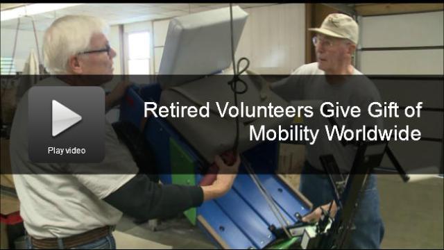 Retired Volunteers Give Gift of Mobility Worldwide