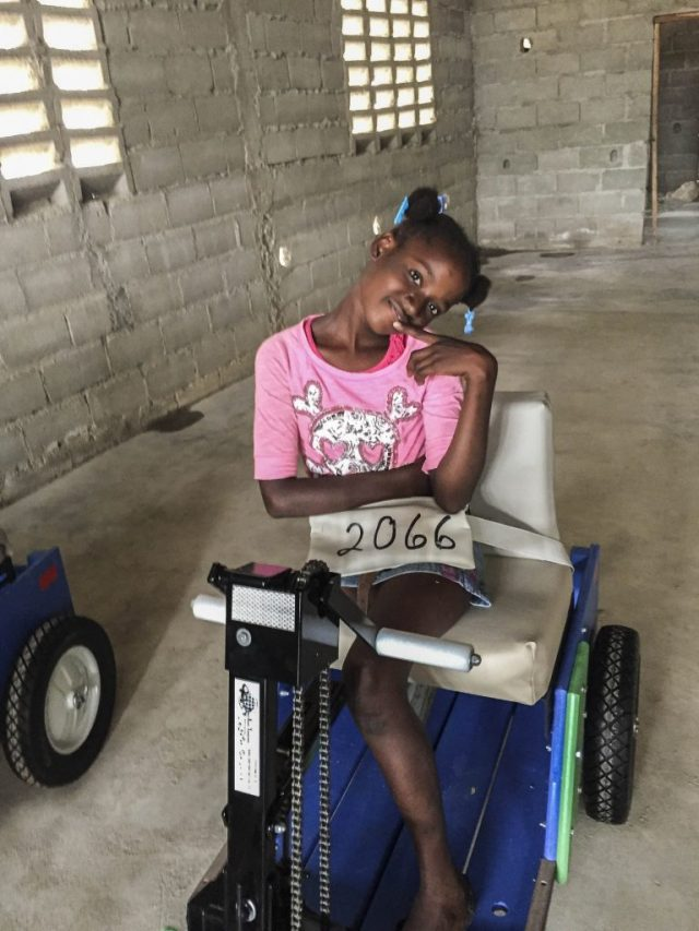 The gift of mobility: this young girl had an infection at age 2, and it led to an amputated leg